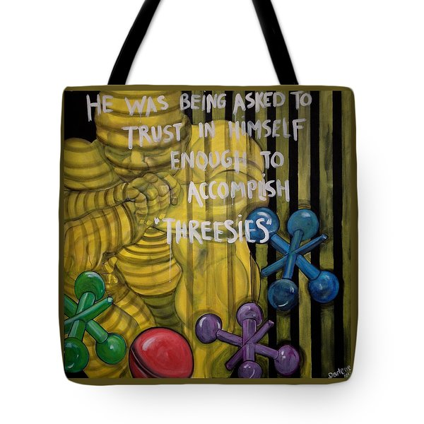 Threesies Tote Bag by Darlene Graeser