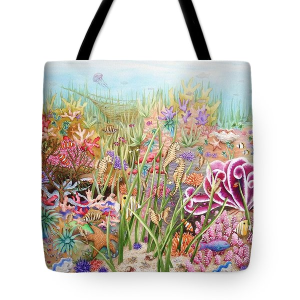 Thriving Ocean  Tote Bag by Katherine Young-Beck