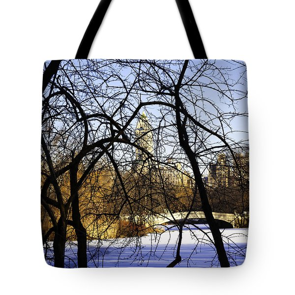 Through The Branches 3 - Central Park - Nyc Tote Bag by Madeline Ellis