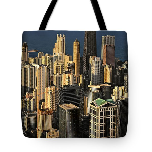 Through The Haze Chicago Shines Tote Bag by Christine Till