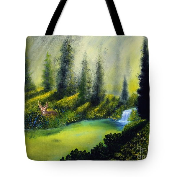 Through The Trees Tote Bag by David Kacey