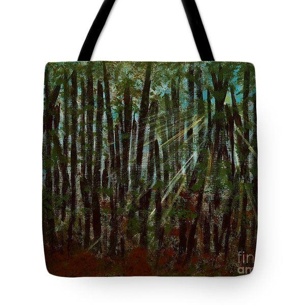 Through The Trees Tote Bag by Hillary Binder-Klein