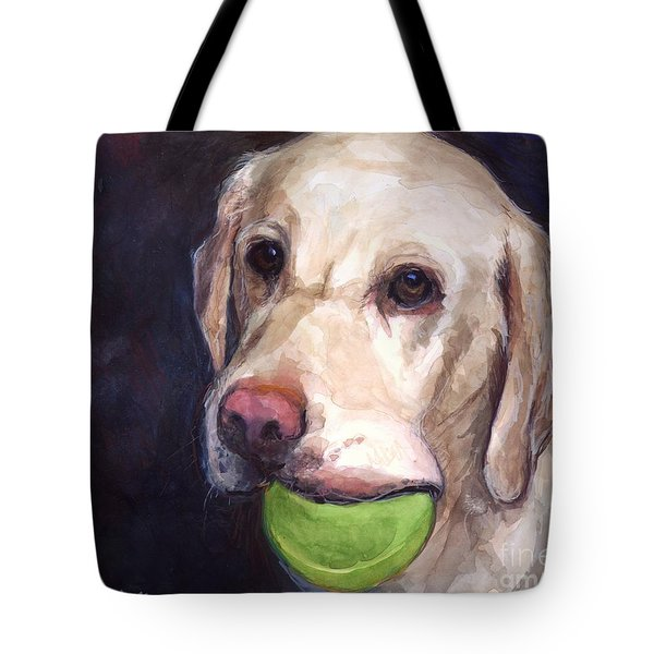 Throw The Ball Tote Bag by Molly Poole