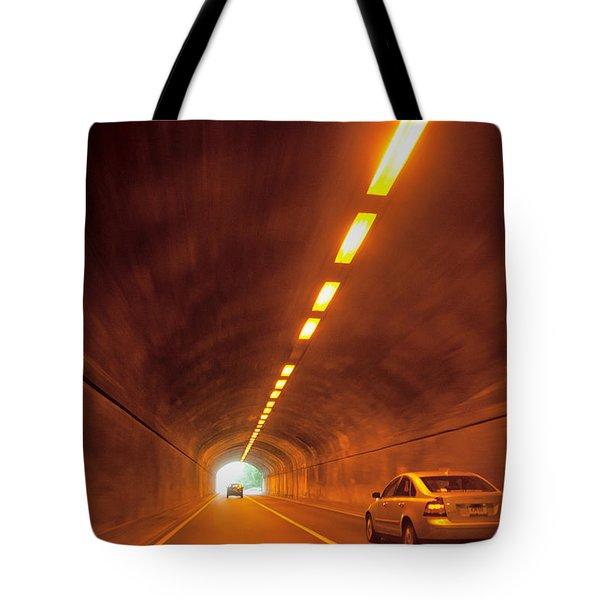 Thru The Tunnel Tote Bag by Karol  Livote