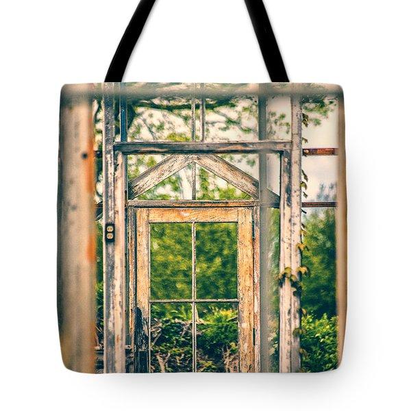 Thru Times Window Tote Bag by Karol Livote