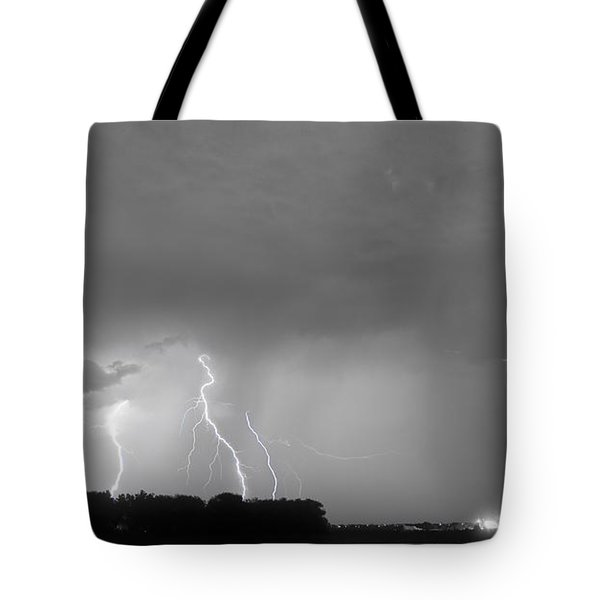 Thunder Rolls And The Lightnin Strikes Bwsc Tote Bag by James BO  Insogna