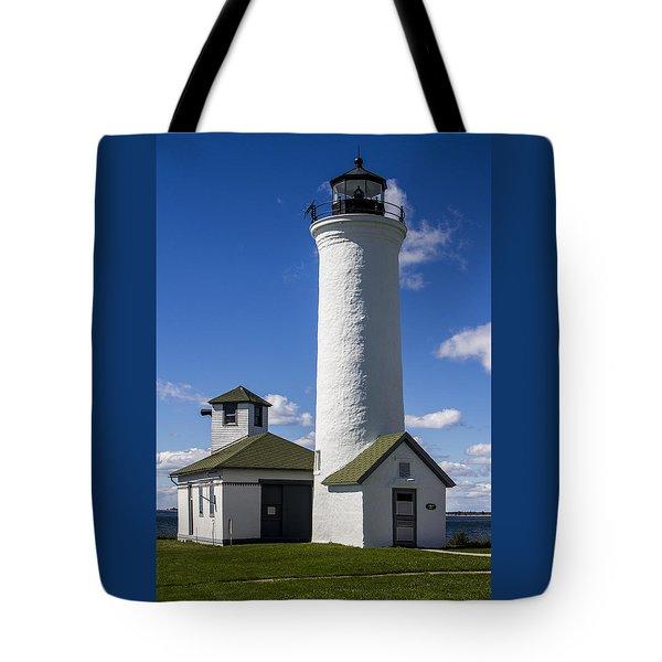 Tibbetts Point Lighthouse Tote Bag by Ben and Raisa Gertsberg