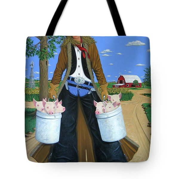 Tickled Pink Tote Bag by Lance Headlee