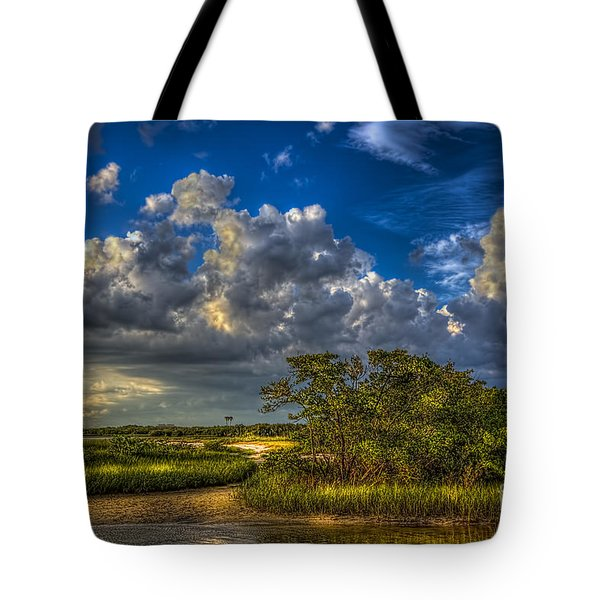 Tide Water Tote Bag by Marvin Spates
