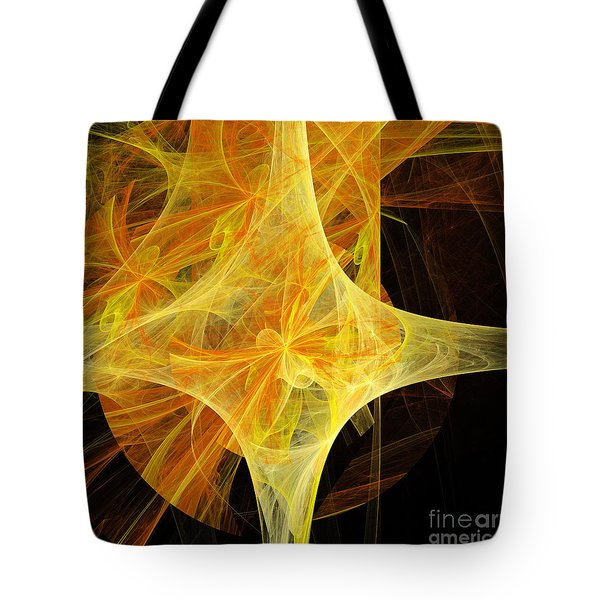 Tie A Yellow Ribbon Tote Bag by Andee Design
