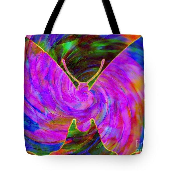 Tie-dye Butterfly Tote Bag by Elizabeth McTaggart