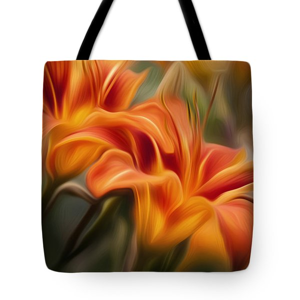 Tiger Lily Tote Bag by Bill  Wakeley