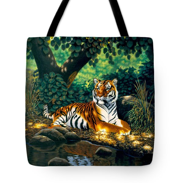 Tiger Tote Bag by MGL Studio - Chris Hiett