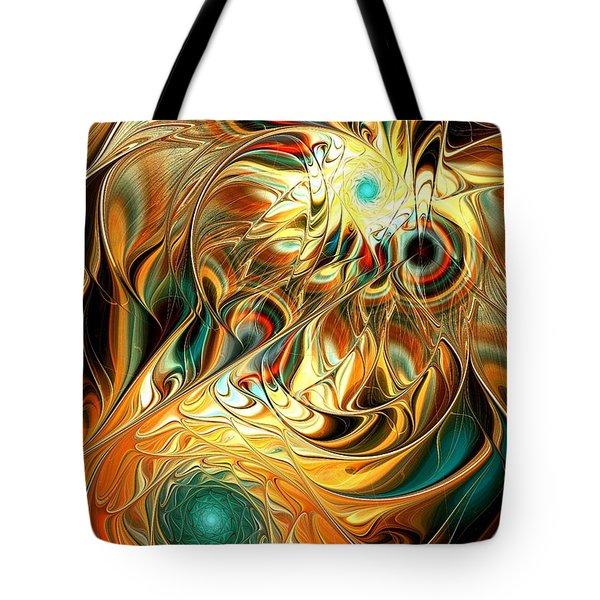 Tiger Vision Tote Bag by Anastasiya Malakhova