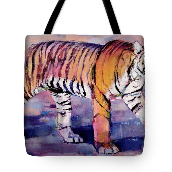 Tigress, Khana, India Tote Bag by Mark Adlington