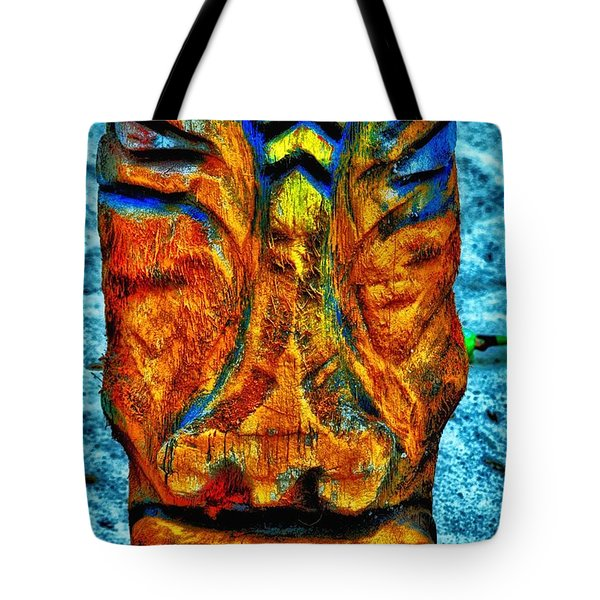 Tiki God Tote Bag by Todd and candice Dailey