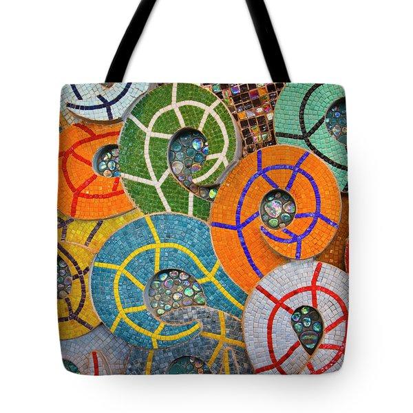Tiled Swirls Tote Bag by Adam Romanowicz