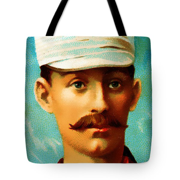 Tim Keefe New York Metropolitans Baseball Card 0128 Tote Bag by Wingsdomain Art and Photography