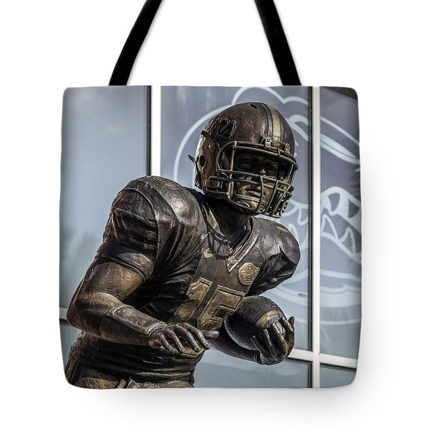 Tim Tebow Uf Heisman Winner Tote Bag by Lynn Palmer