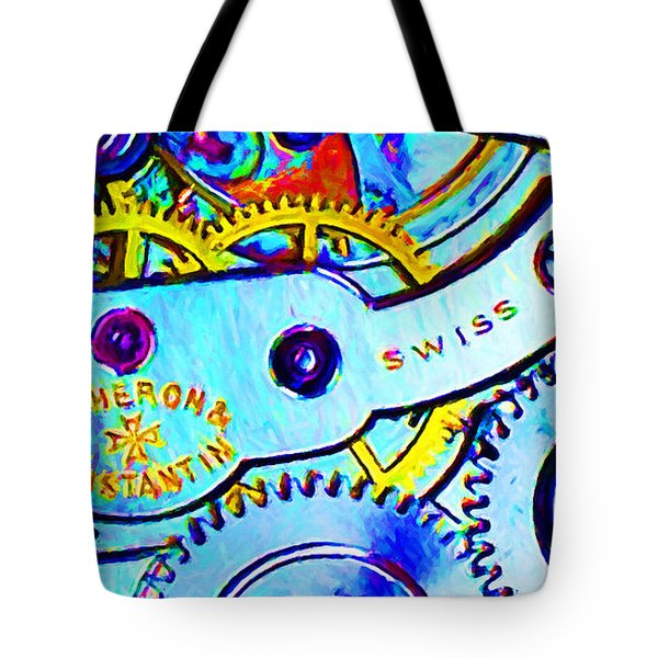 Time In Abstract 20130605 Long Tote Bag by Wingsdomain Art and Photography