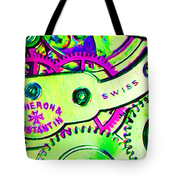 Time In Abstract 20130605m108 Long Tote Bag by Wingsdomain Art and Photography