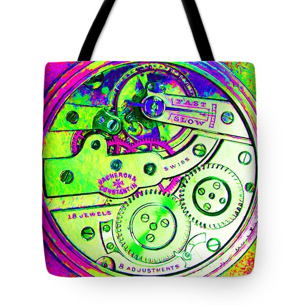 Time In Abstract 20130605m108 Square Tote Bag by Wingsdomain Art and Photography