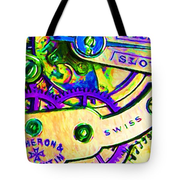 Time In Abstract 20130605m144 Tote Bag by Wingsdomain Art and Photography