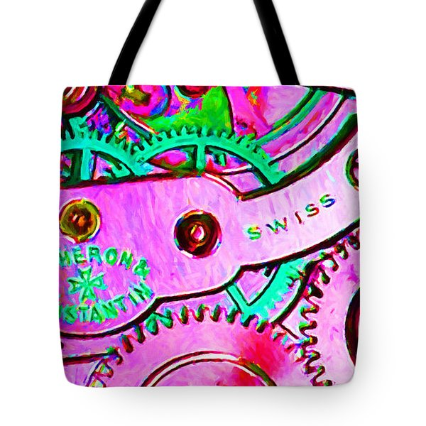 Time In Abstract 20130605p108 Long Tote Bag by Wingsdomain Art and Photography