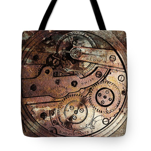 Time In Abstract 20130605rust Square Tote Bag by Wingsdomain Art and Photography