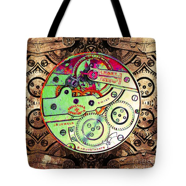 Time Machine 20130606 square Tote Bag by Wingsdomain Art and Photography