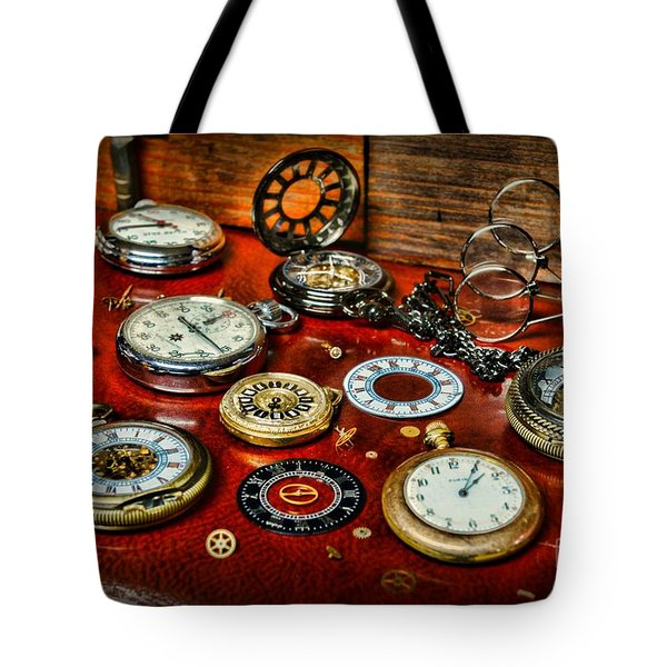 Time - Pocket Watches  Tote Bag by Paul Ward