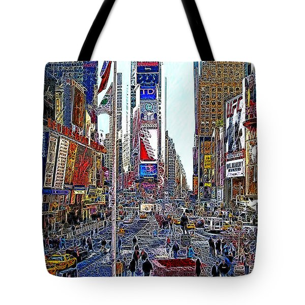 Time Square New York 20130430 Tote Bag by Wingsdomain Art and Photography