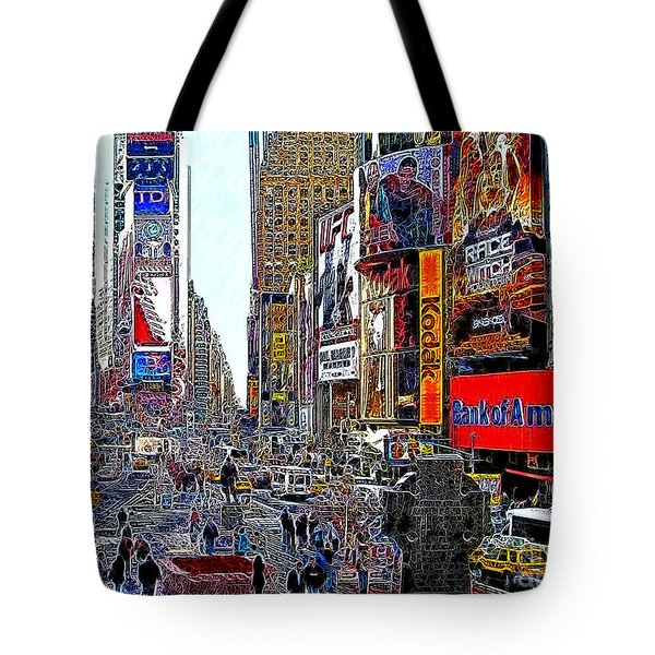 Time Square New York 20130503v4 Tote Bag by Wingsdomain Art and Photography