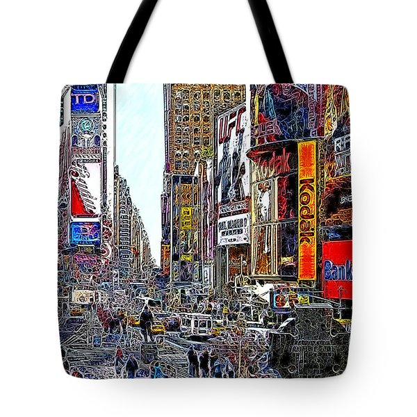 Time Square New York 20130503v7 Tote Bag by Wingsdomain Art and Photography