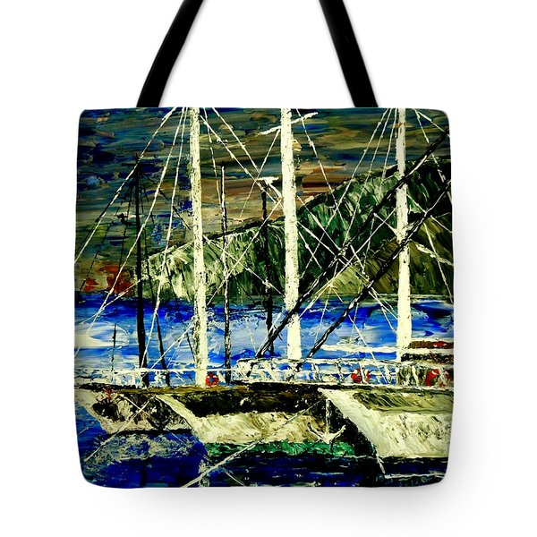 Time To Sail  Tote Bag by Mark Moore