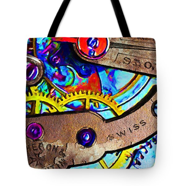 Time Waits For Nobody 20130605 square Tote Bag by Wingsdomain Art and Photography