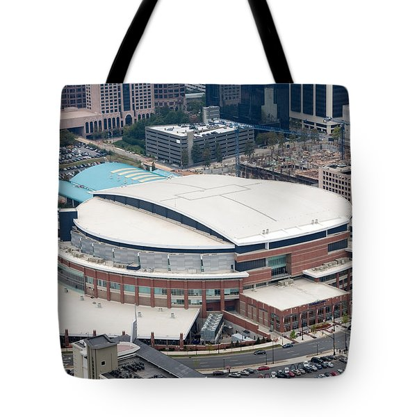 Time Warner Cable Arena Tote Bag by Bill Cobb