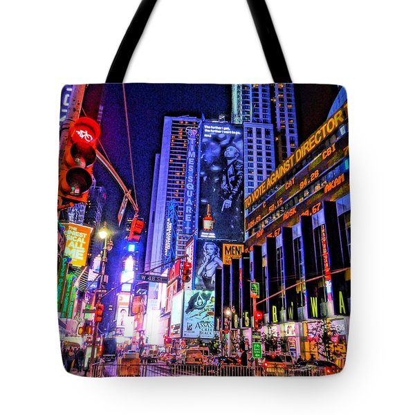 Times Square Tote Bag by Dan Sproul