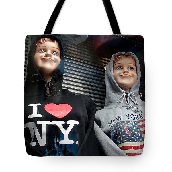 Times Square Kids Tote Bag by Ed Weidman
