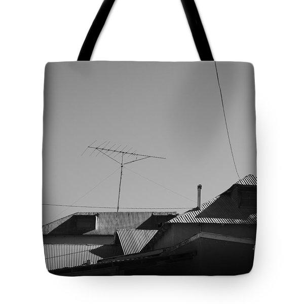 Tin Rooftops Chimayo New Mexico Tote Bag by David Gordon