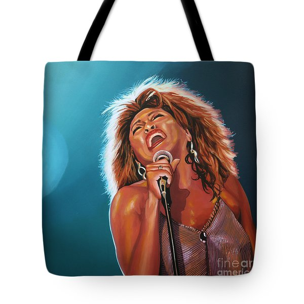 Tina Turner 3 Tote Bag by Paul Meijering