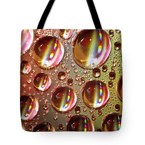 Tiny Water Beads And Spectrum Colors Tote Bag by Heiko Koehrer-Wagner