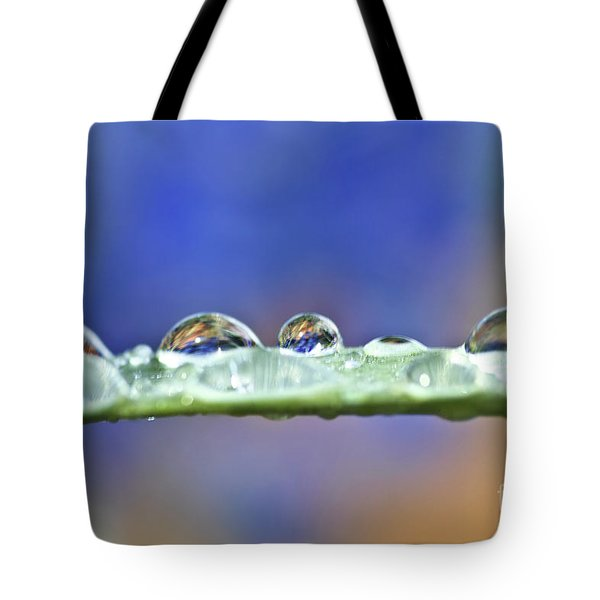 Tiny Waterworld And A Leaf Tote Bag by Heiko Koehrer-Wagner