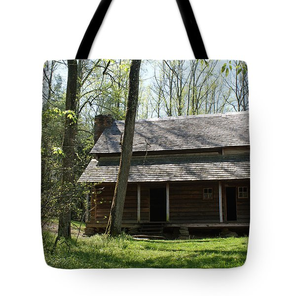 Tipton Place In Cades Cove Tote Bag by Roger Potts