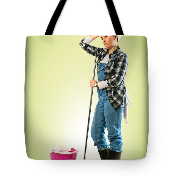 Tired Charwoman Tote Bag by Carlos Caetano
