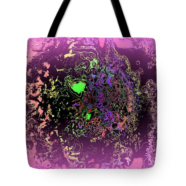Tired Spider With A Green Heart Tote Bag by Hilde Widerberg