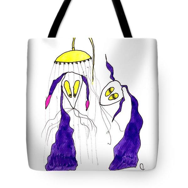 Tis Long Cold Shower Tote Bag by Tis Art
