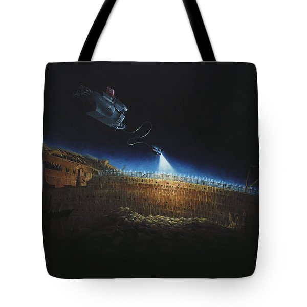 Titanic Wreck Save Our Souls Tote Bag by Martin Davey