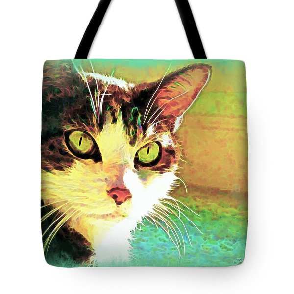 Tj In The Sun Tote Bag by Joan  Minchak