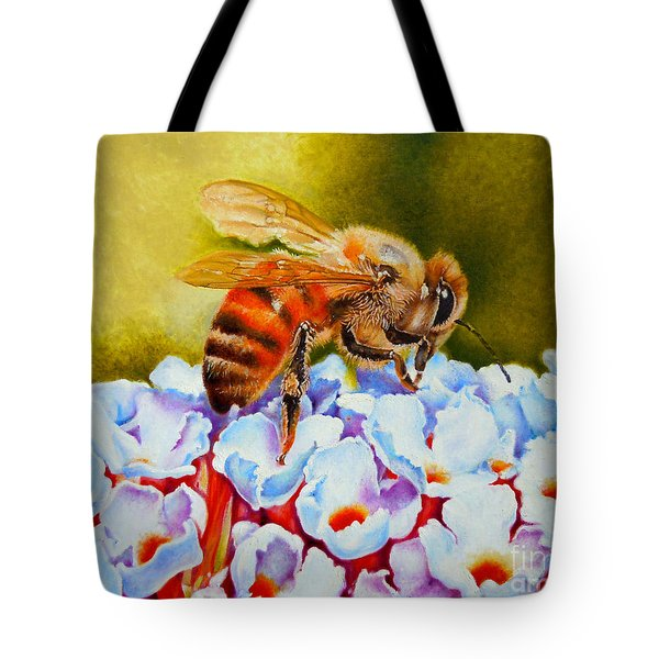 To Bee Or Not To Bee Tote Bag by Rene Holovsky